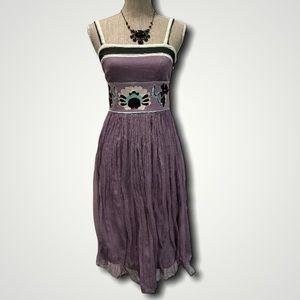 Catherine Malandrino Purple Tank Dress
